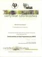 Certyfikat członkowstwa  w Radzie Programowej  przy WBiIŚ